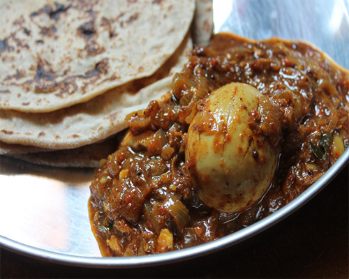 Chapathi with Egg Roast