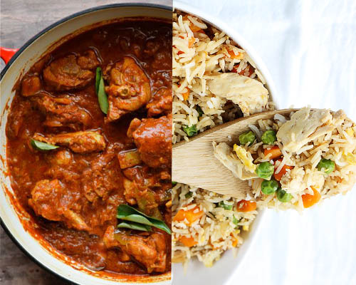 Chicken Fried Rice with Butter Chicken