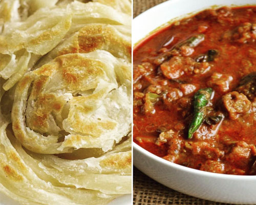 Kerala Porotta (2nos) with Beef Curry