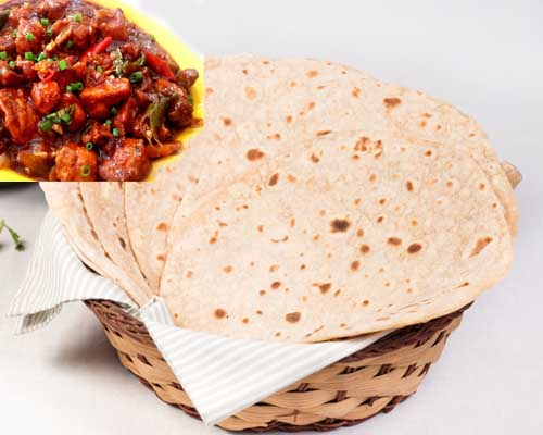 Chapathi With Chilli Chicken