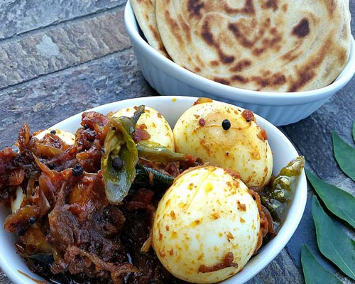 Handmade Porotta with Egg Roast